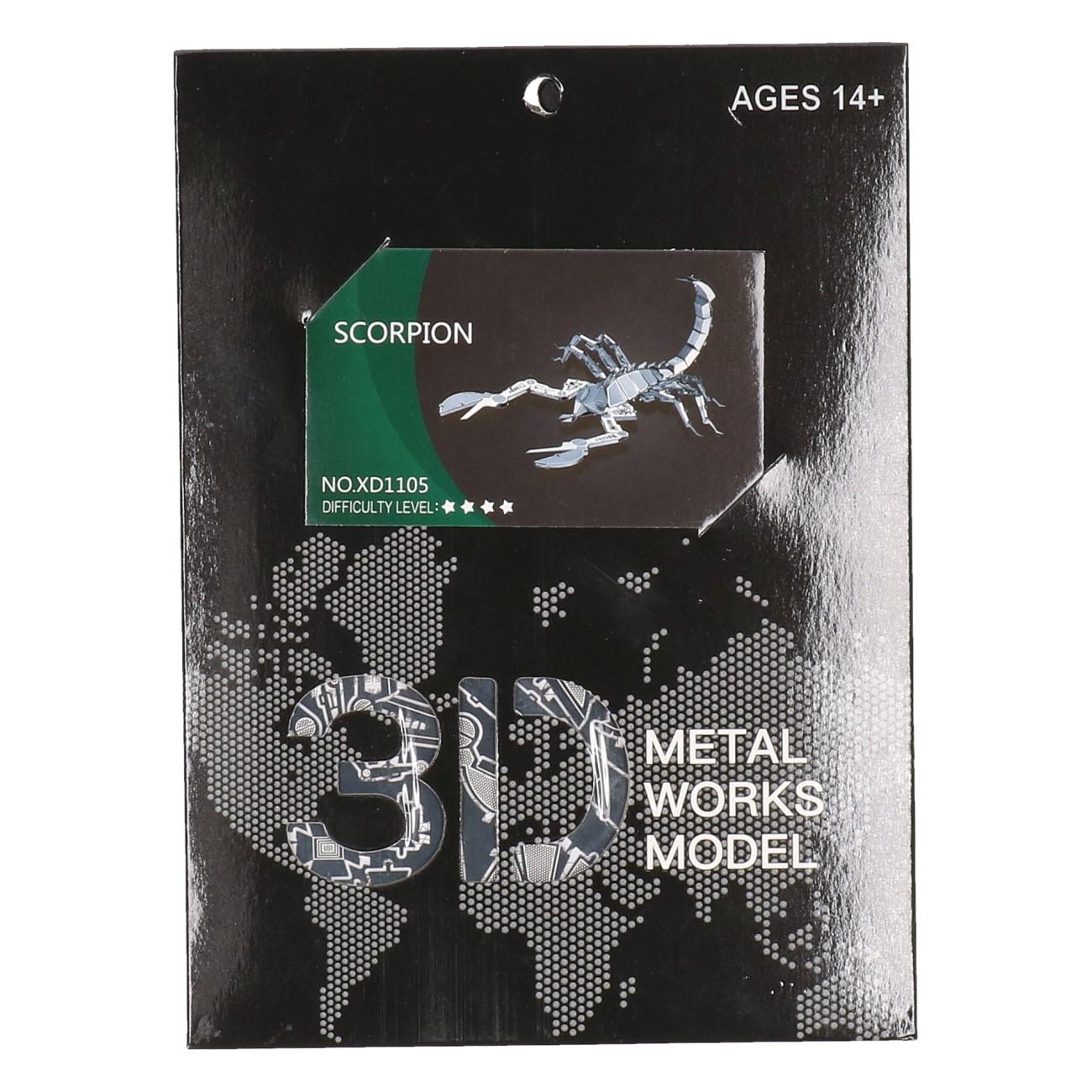 3D Metalen Scorpion