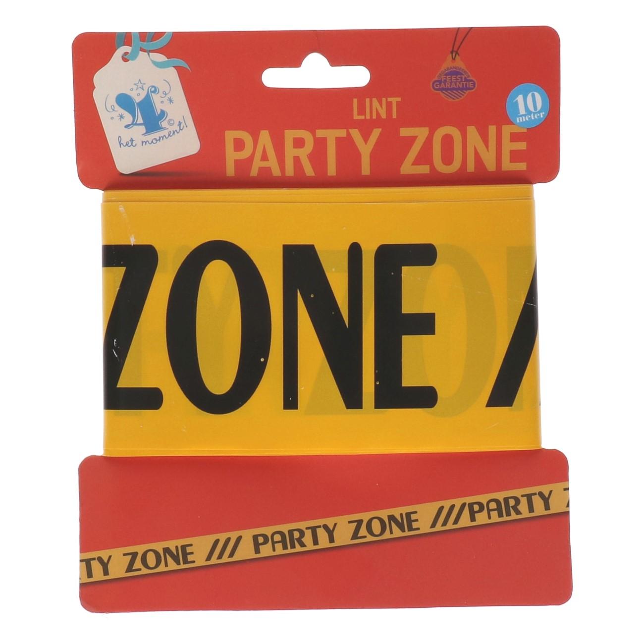 "Afzetlint 10 m ""party zone"""