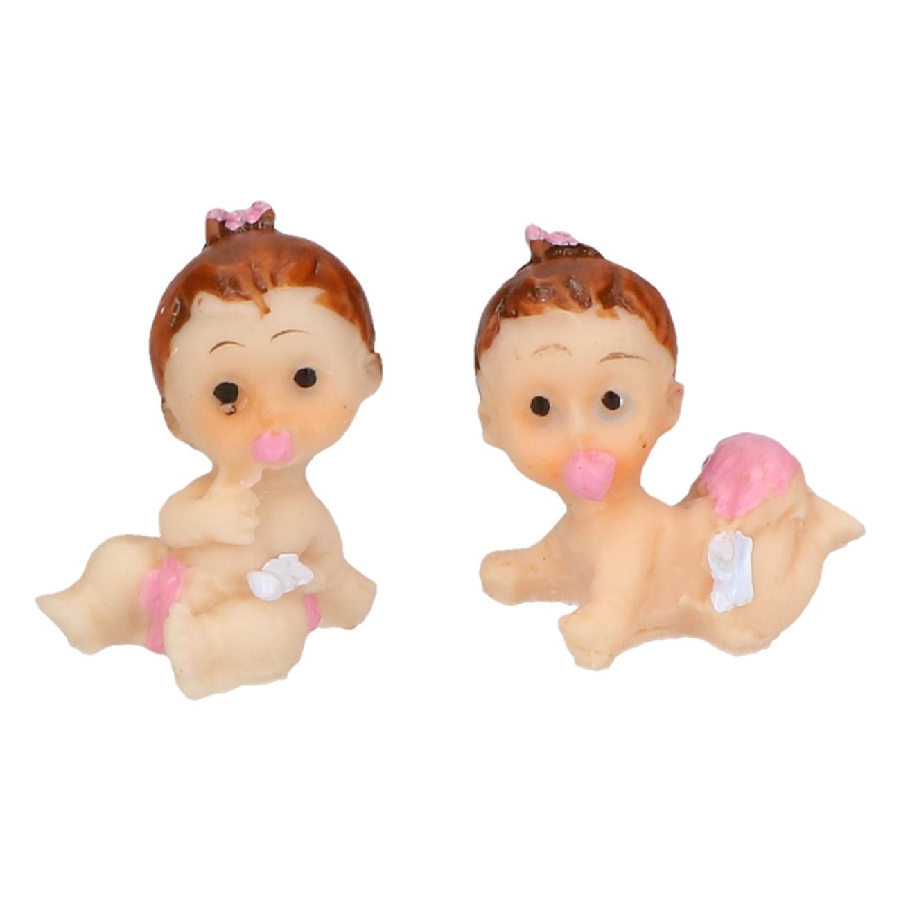 Baby decoratie meisje 2 stuks