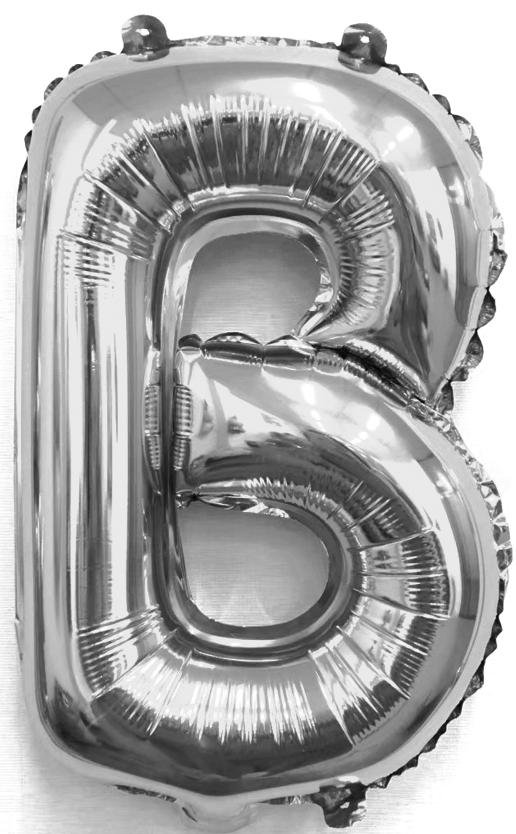 Folieballon letter zilver B