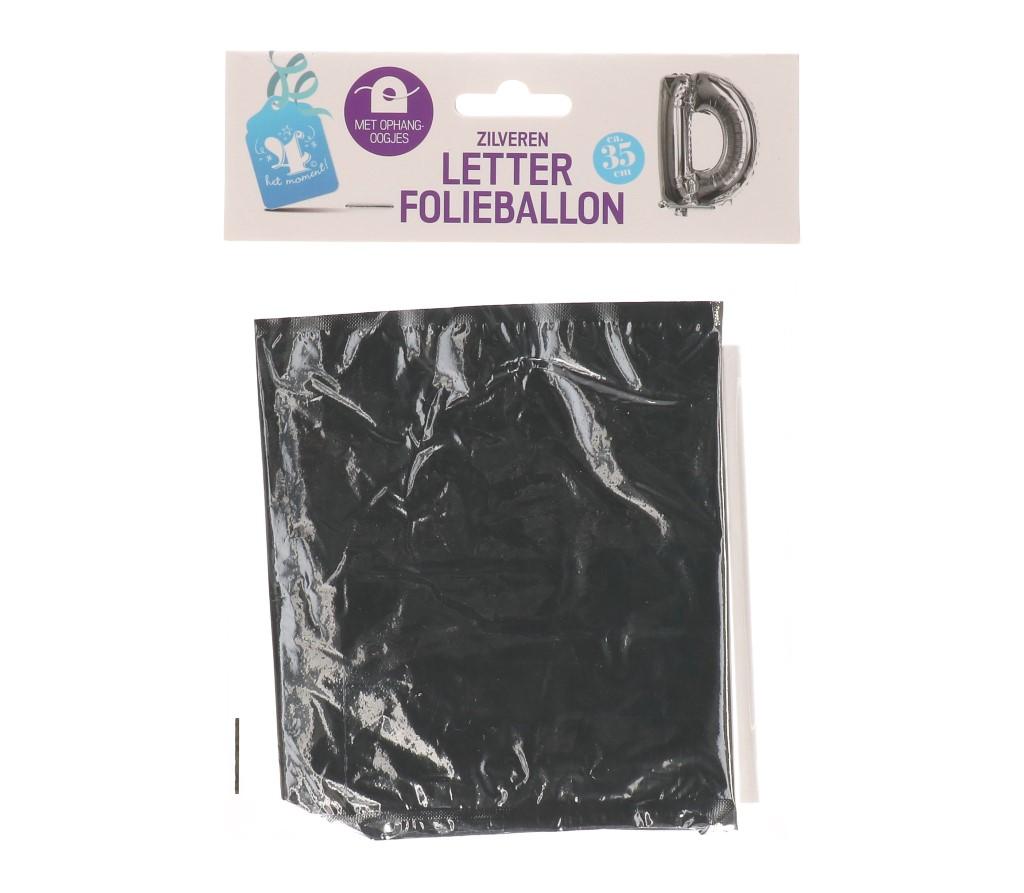 Folieballon letter zilver D