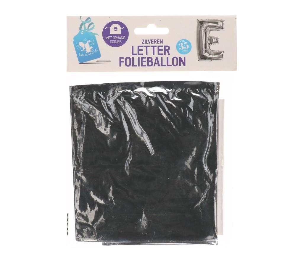 Folieballon letter zilver E