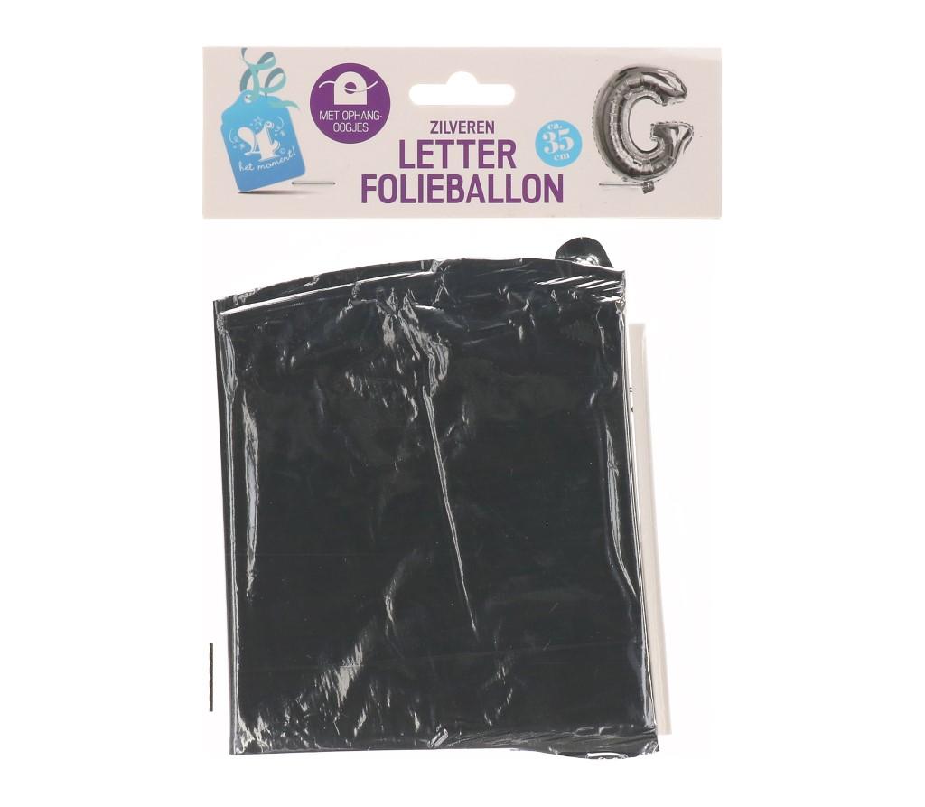 Folieballon letter zilver G