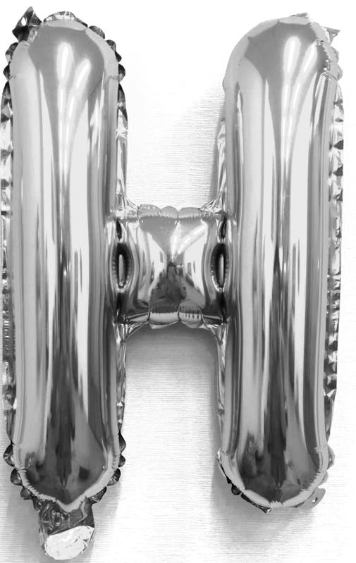 Folieballon letter zilver H