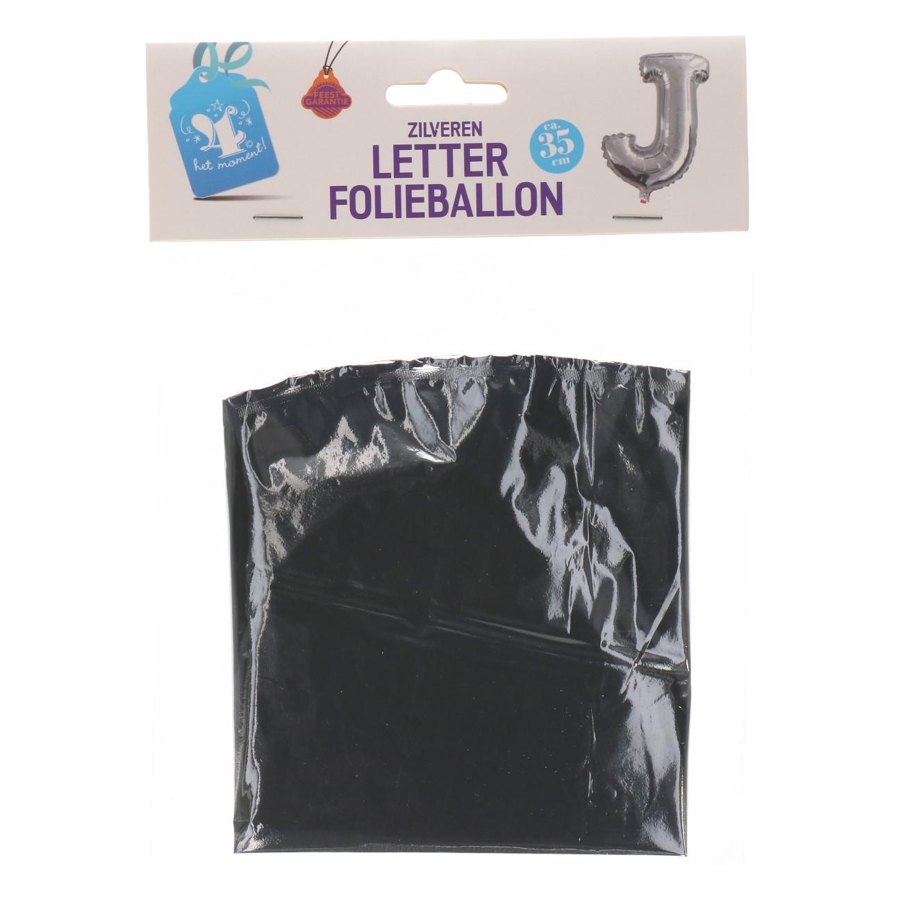 Folieballon letter zilver J