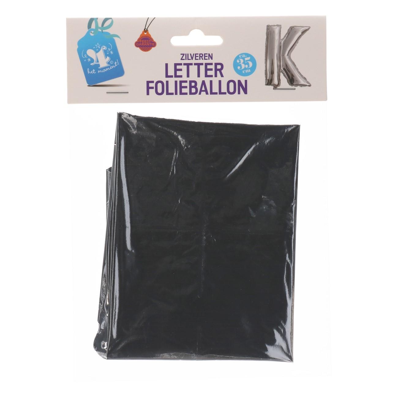Folieballon letter zilver K