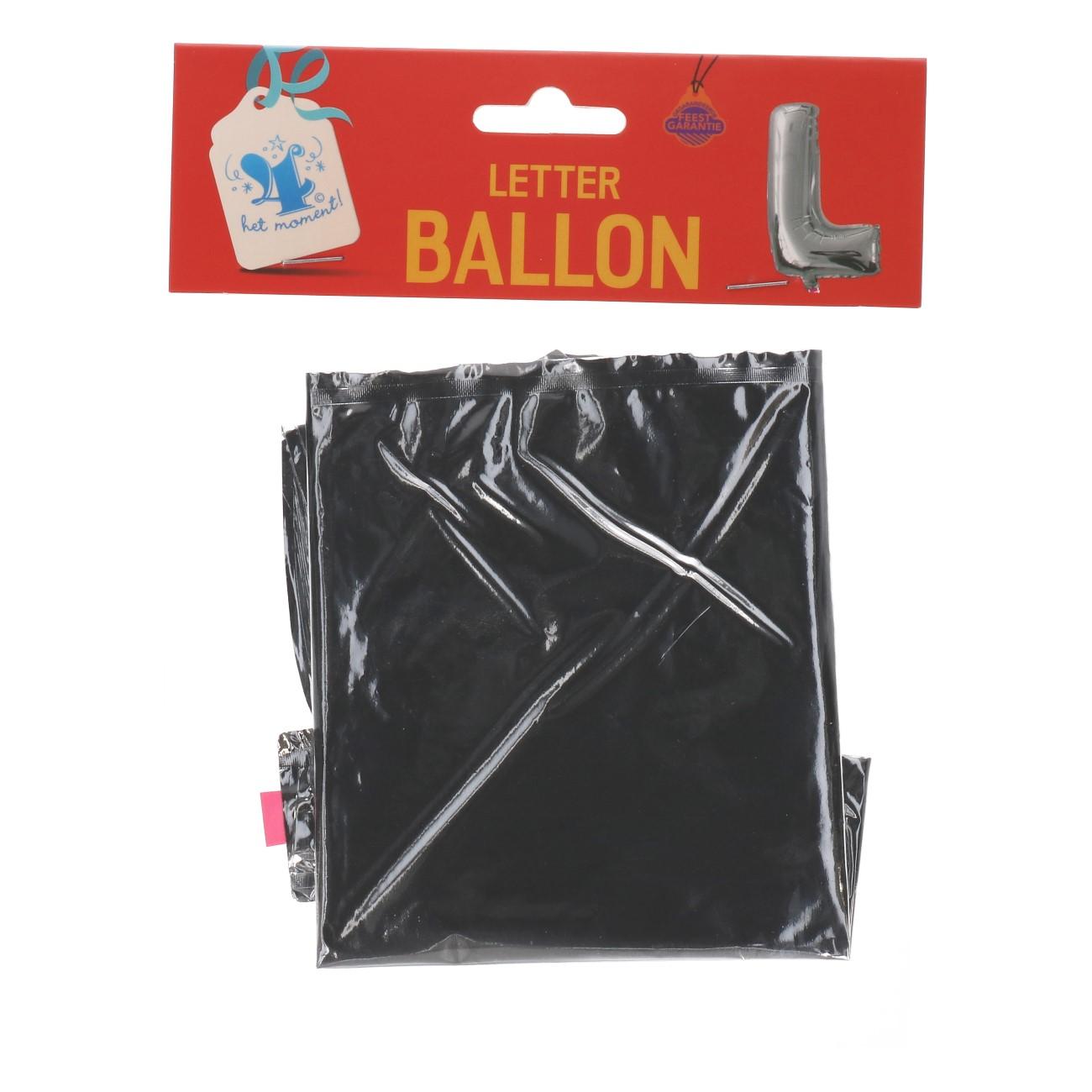 Folieballon letter zilver L