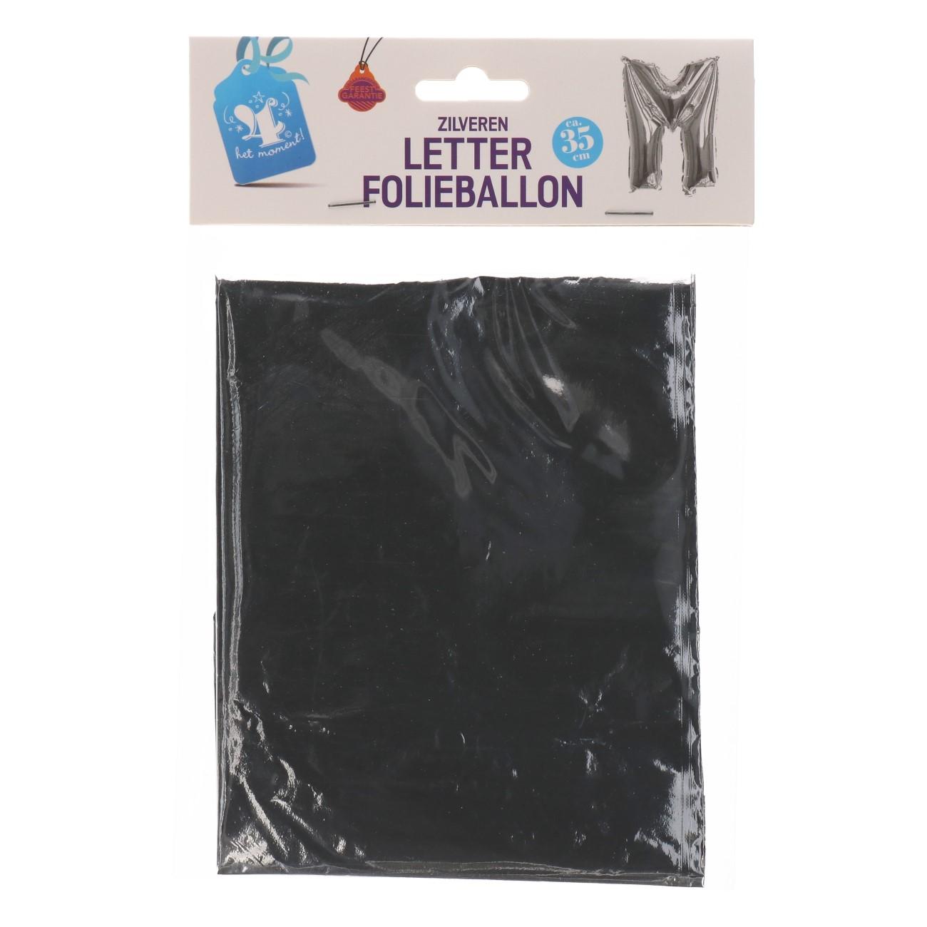 Folieballon letter zilver M