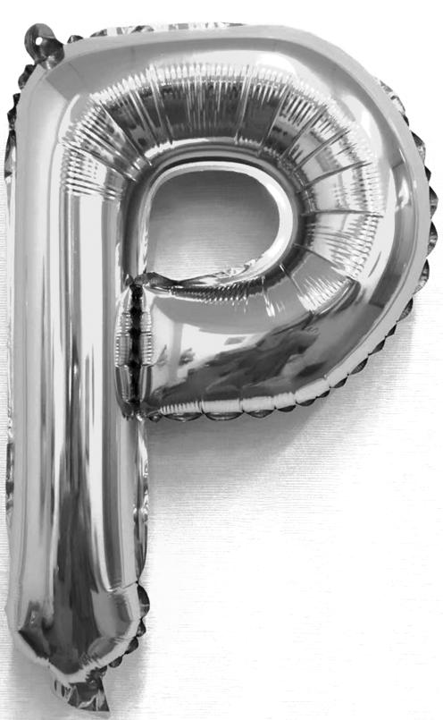 Folieballon letter zilver P