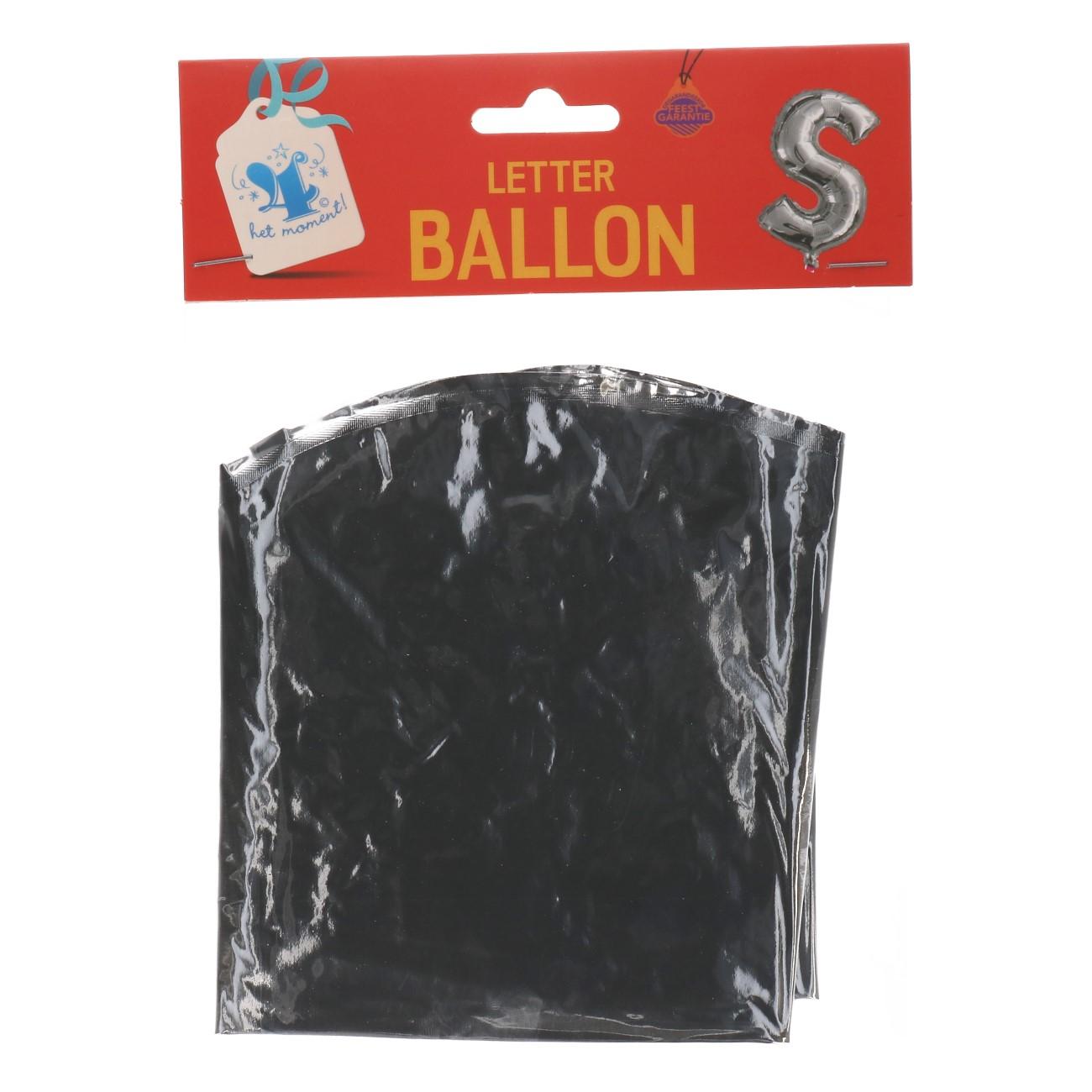 Folieballon letter zilver S