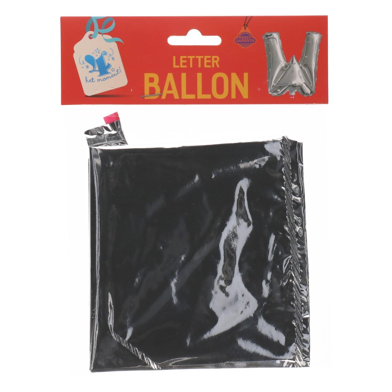 Folieballon letter zilver W