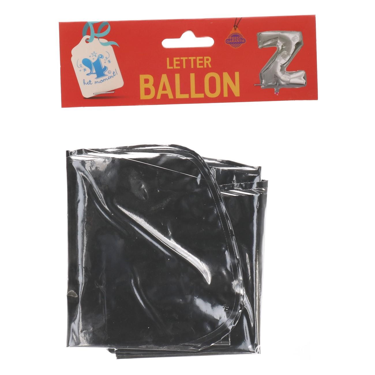 Folieballon letter zilver Z