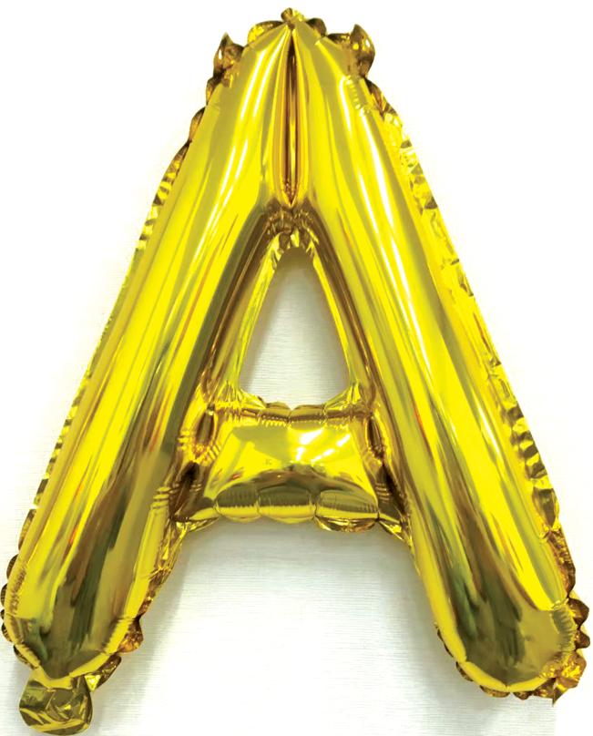 Folieballon letter goud A