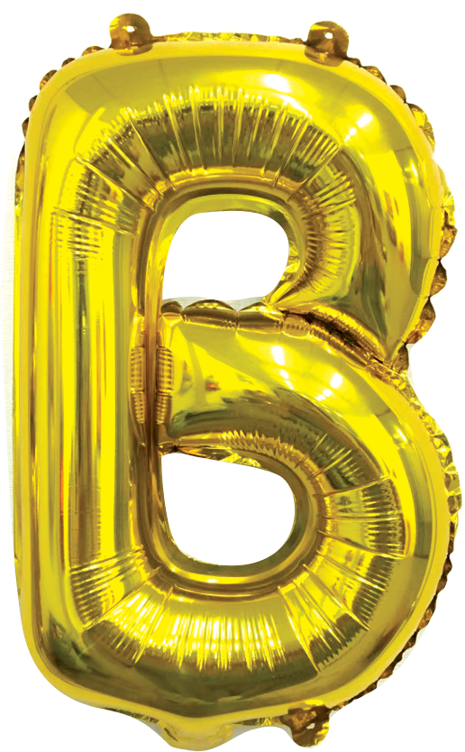Folieballon letter goud B