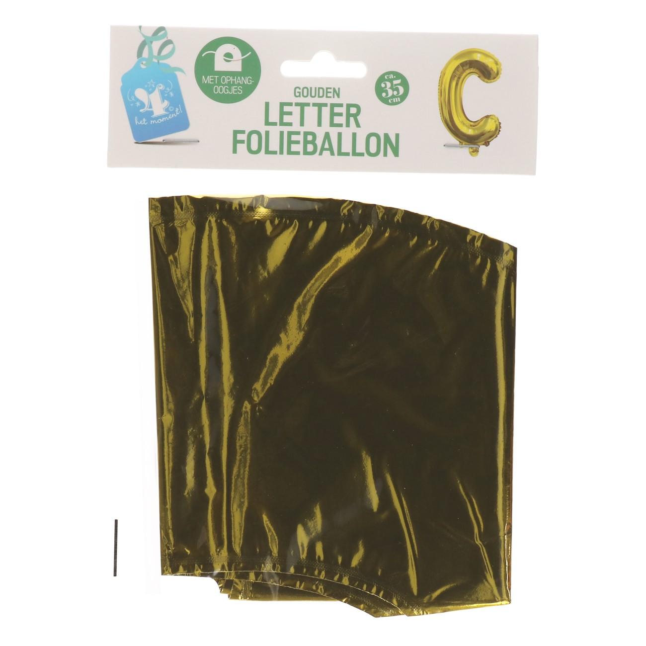 Folieballon letter goud C