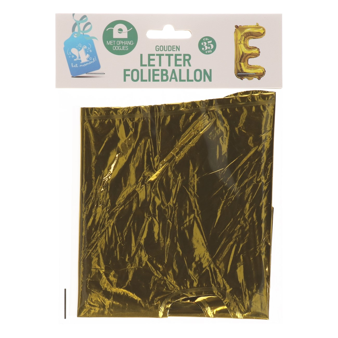 Folieballon letter goud E