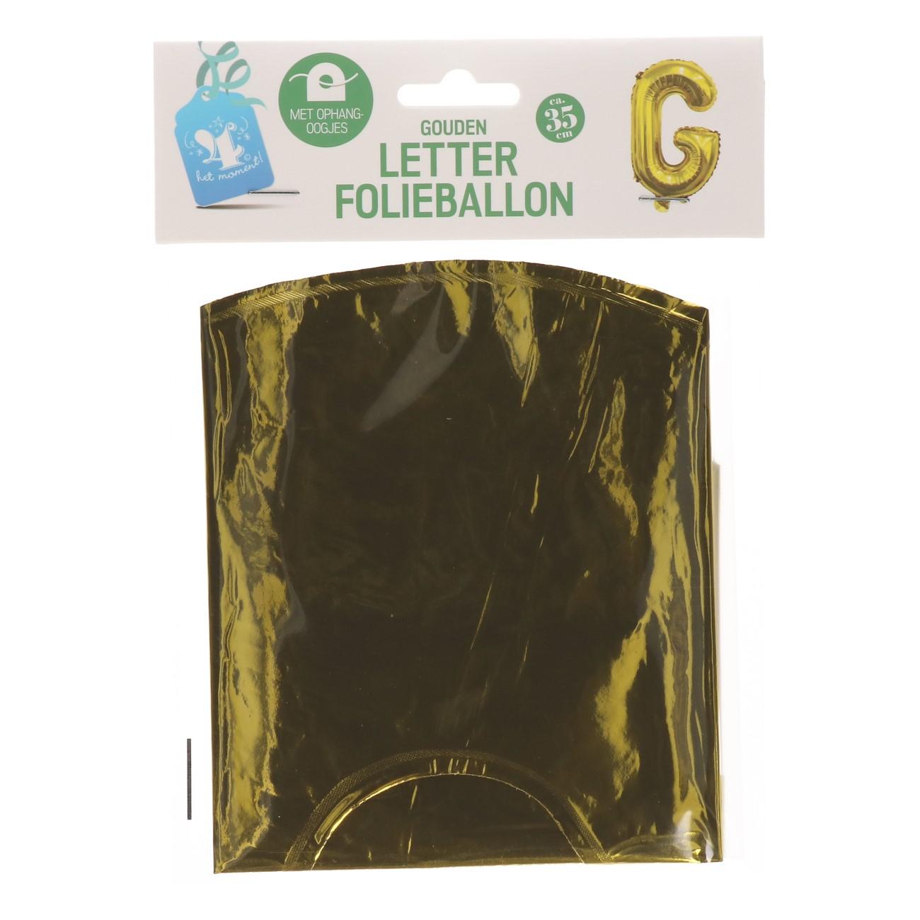 Folieballon letter goud G