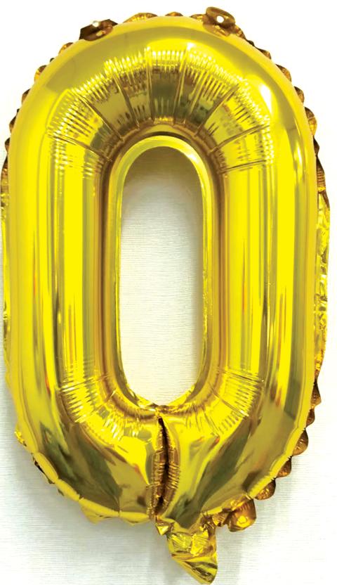 Folieballon letter goud O