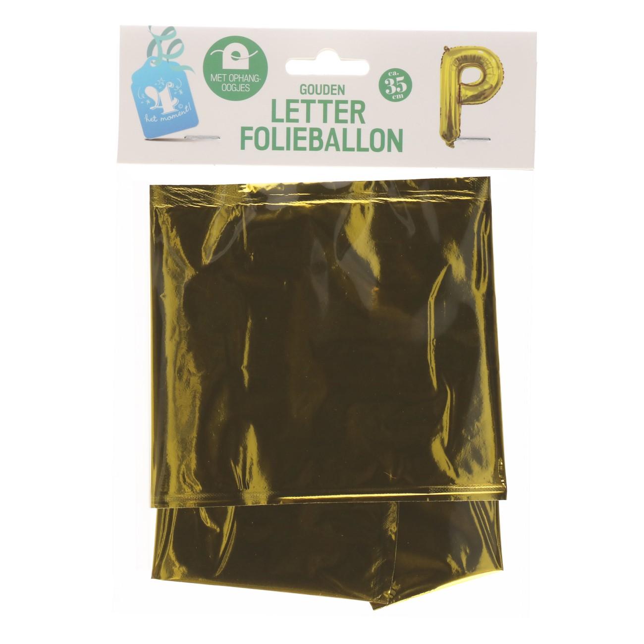 Folieballon letter goud P