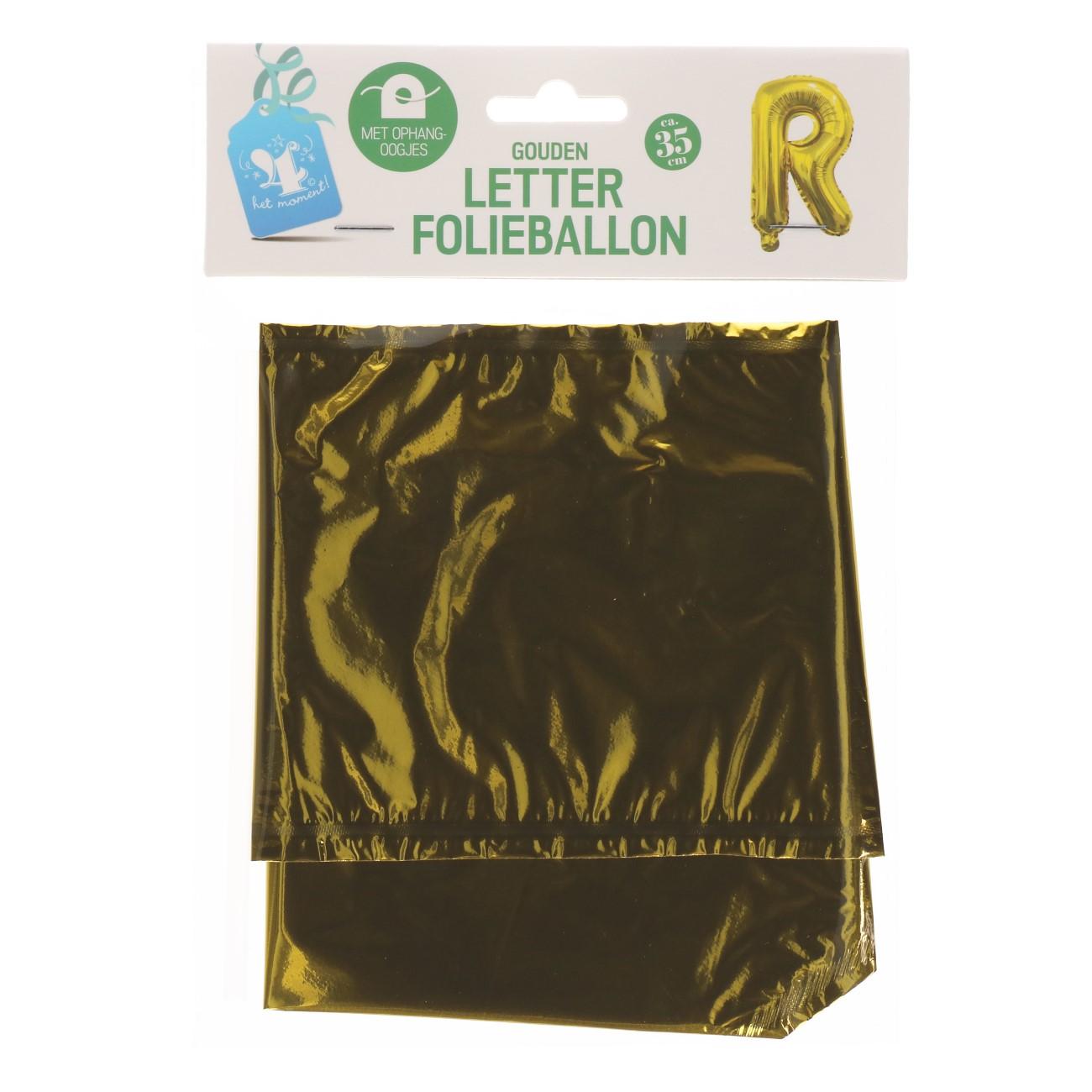 Folieballon letter goud R
