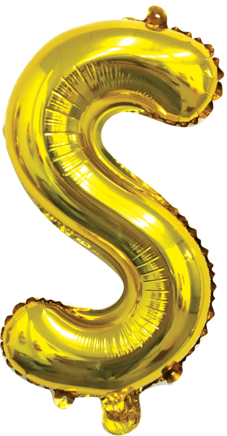 Folieballon letter goud S