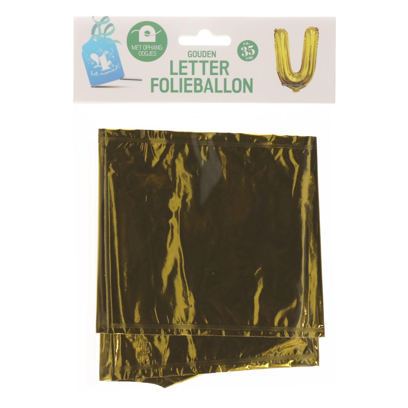 Folieballon letter goud U