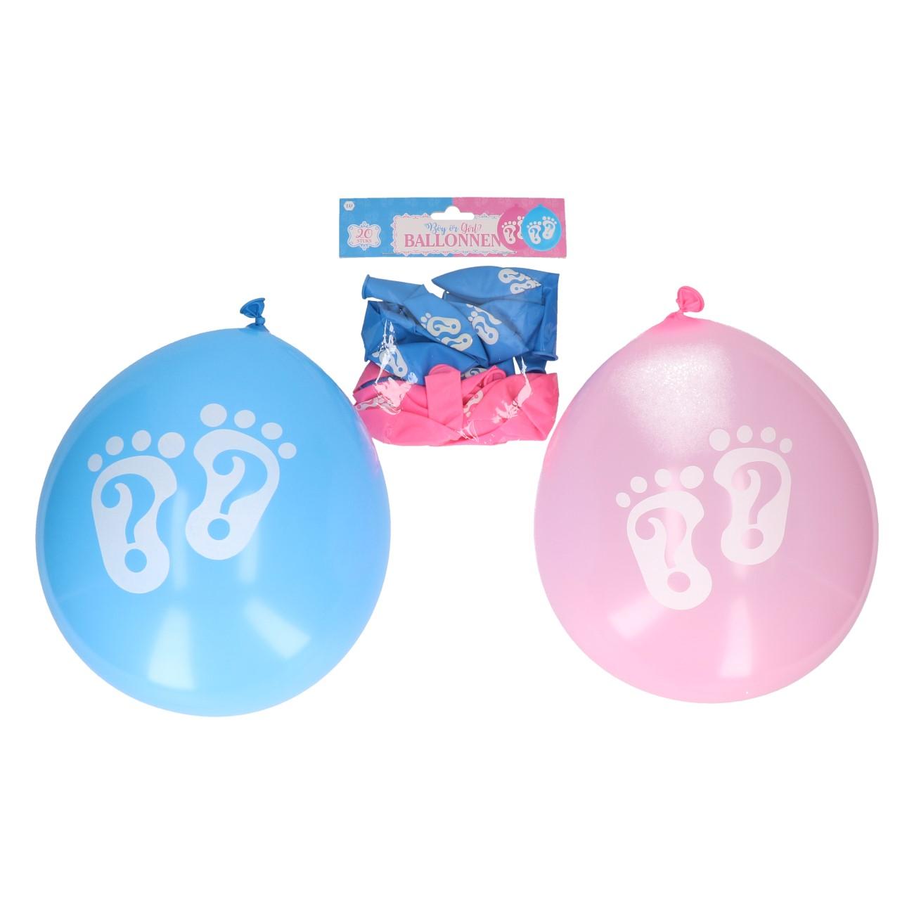 """Ballonnen """"boy or girl"""" 20 stuks"""