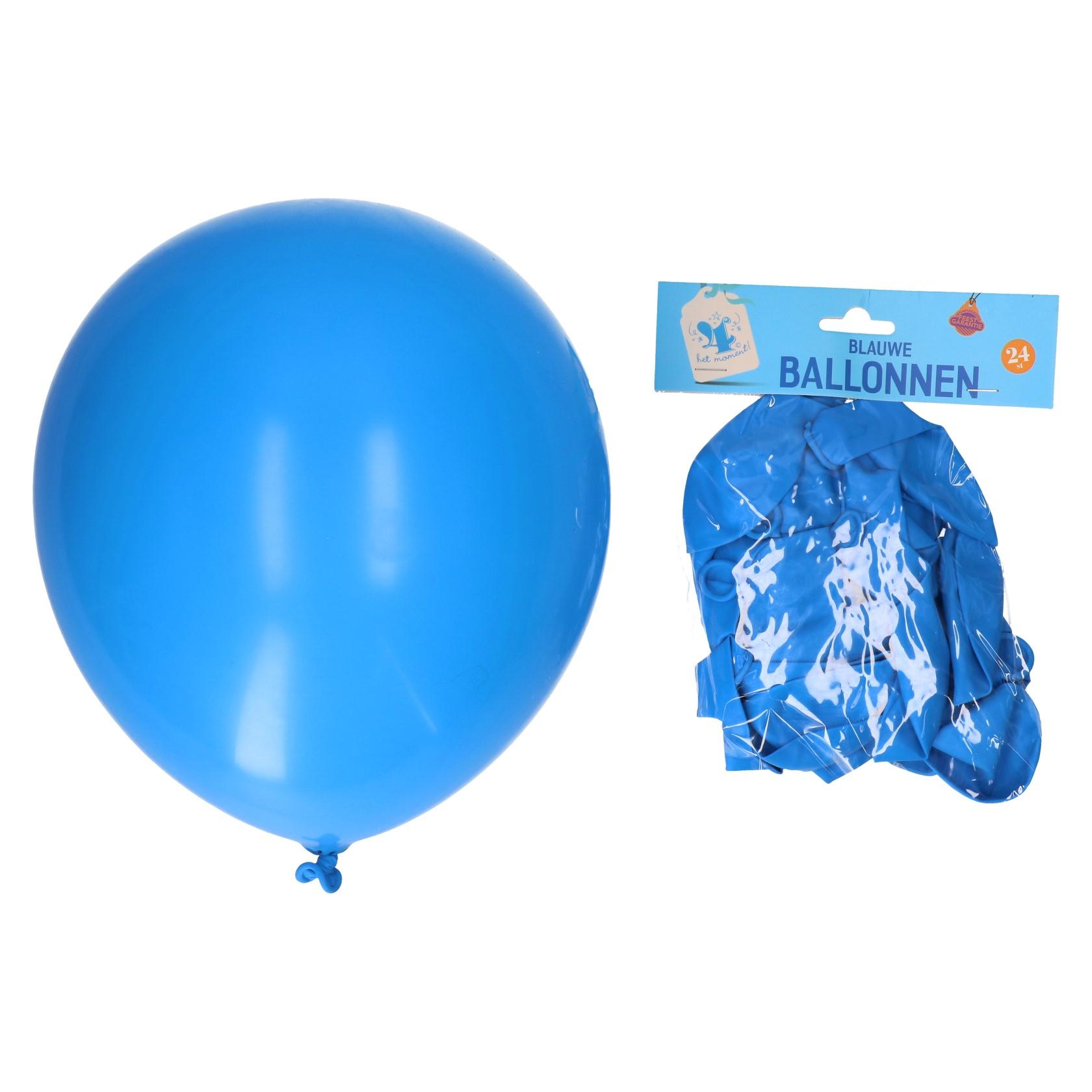 Ballonnen blauw 24 stuks