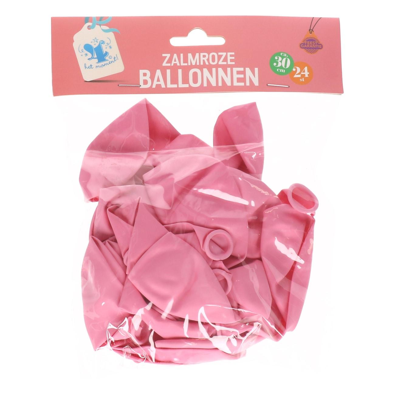 Ballonnen pastel zalmroze 24 stuks