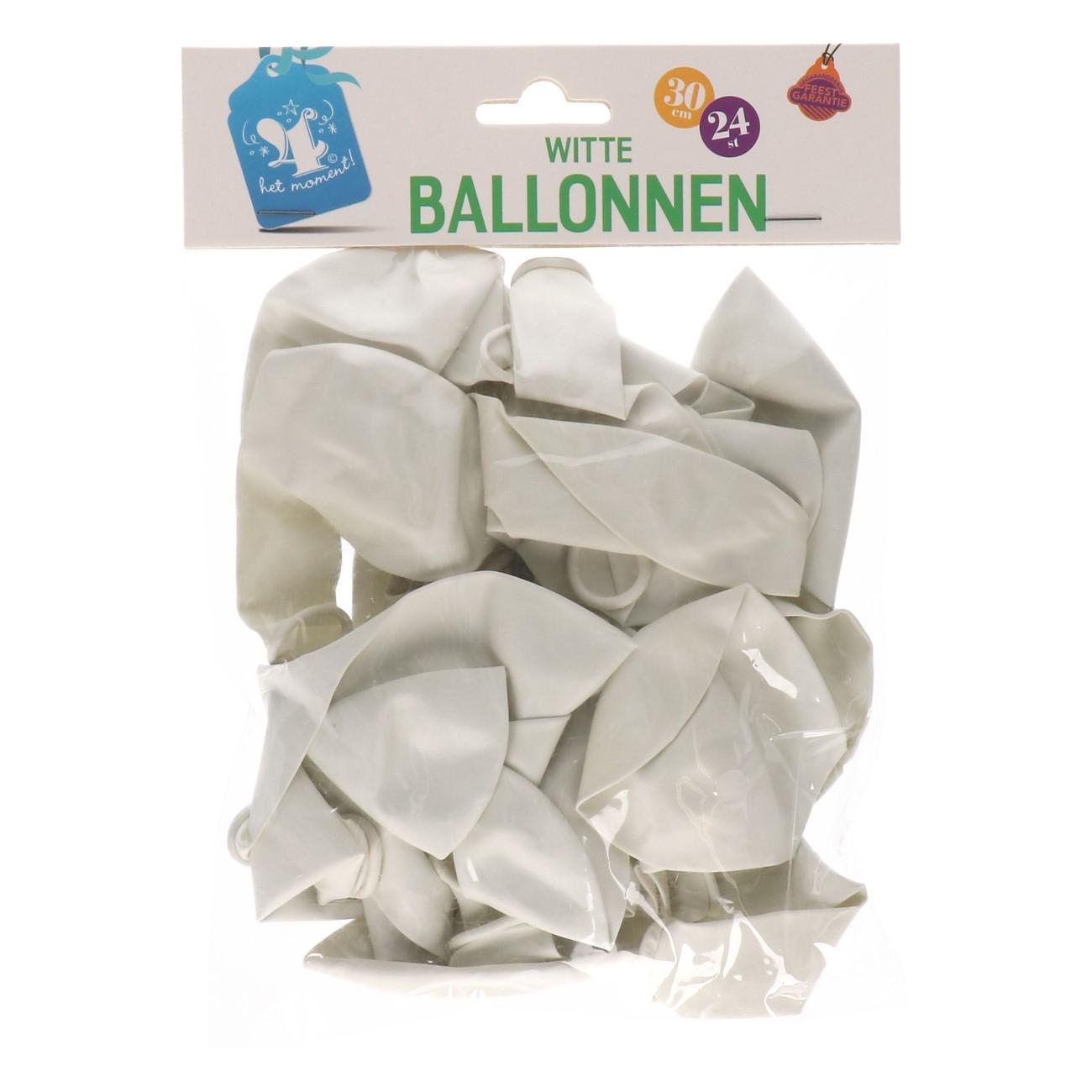 Ballonnen wit 24 stuks