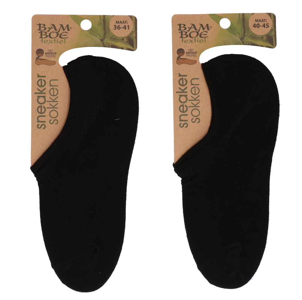 Bamboo sneaker sok zwart