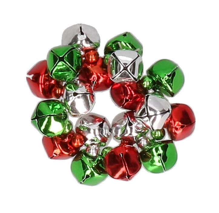 Belletjes armband groen rood