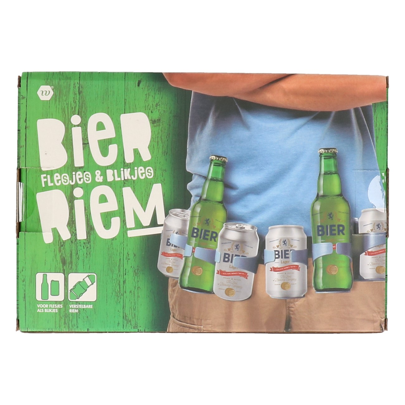 Bierriem voor 6 flesjes of blikjes