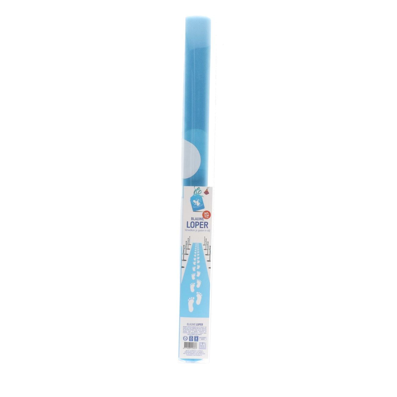 Blauwe loper 250x50cm