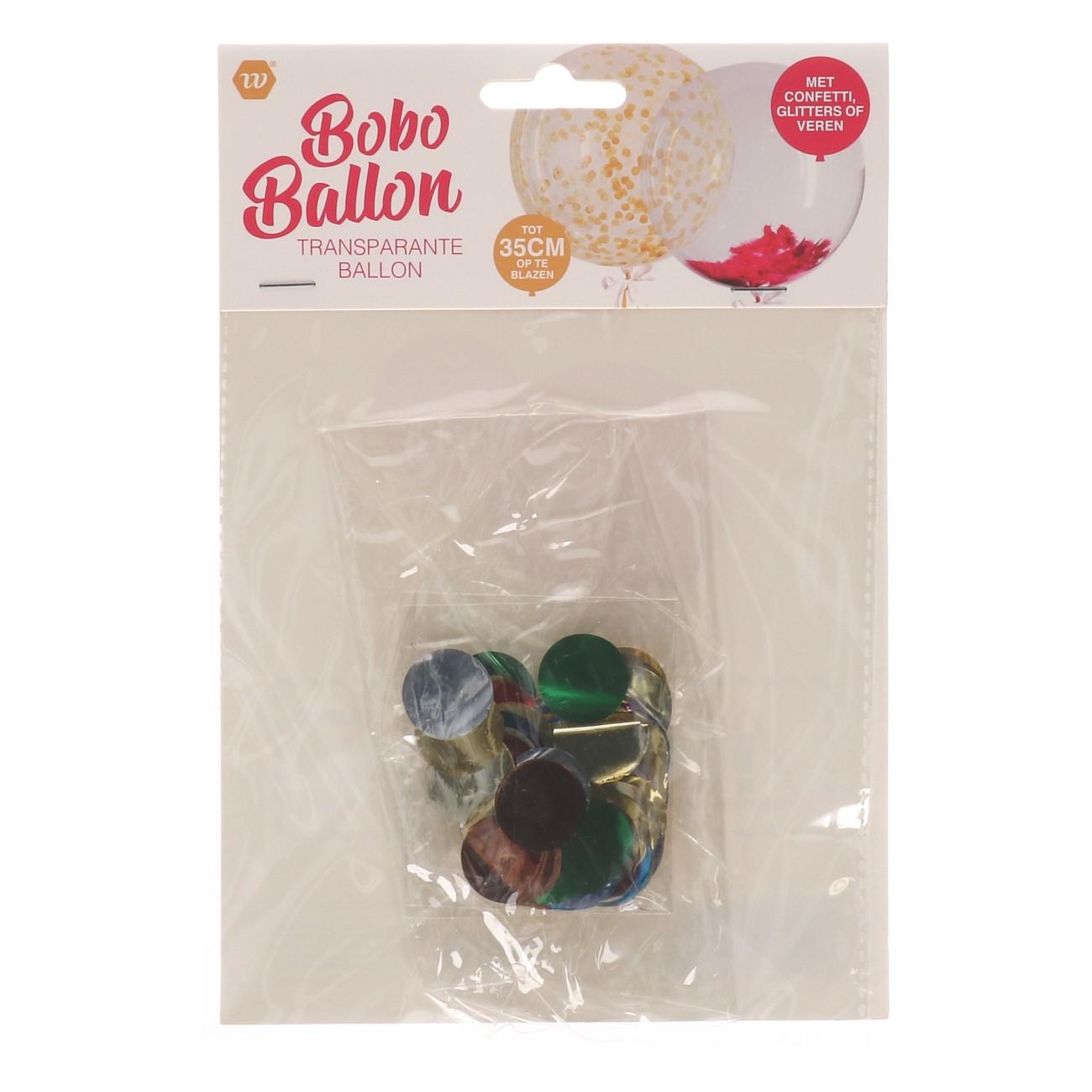 Bobo ballon met confetti glitters of veren