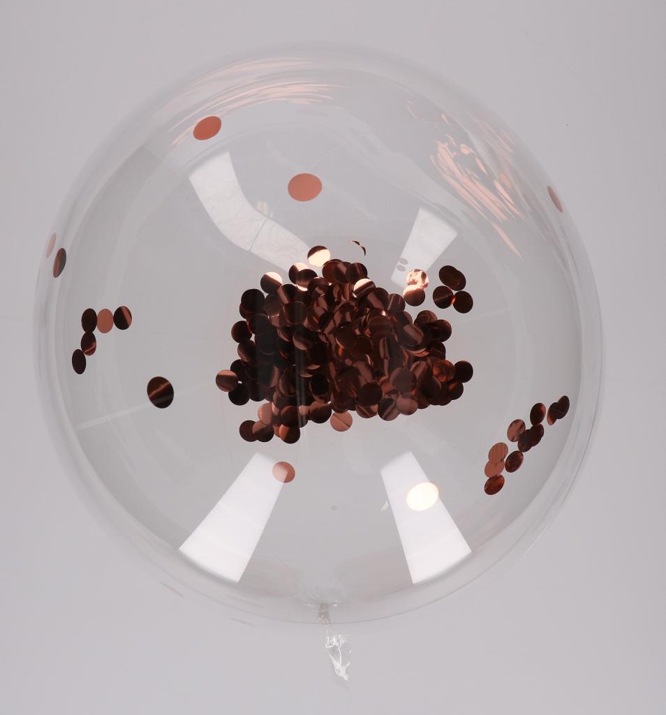 Bobo ballon met confetti,glitters of veren