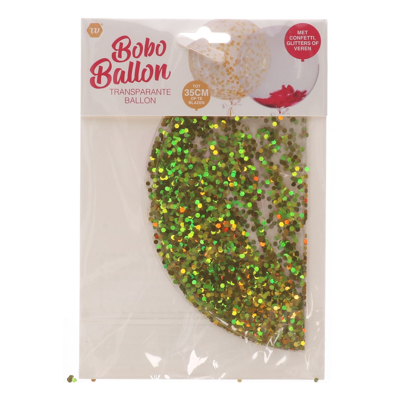 Bobo ballon met glitters