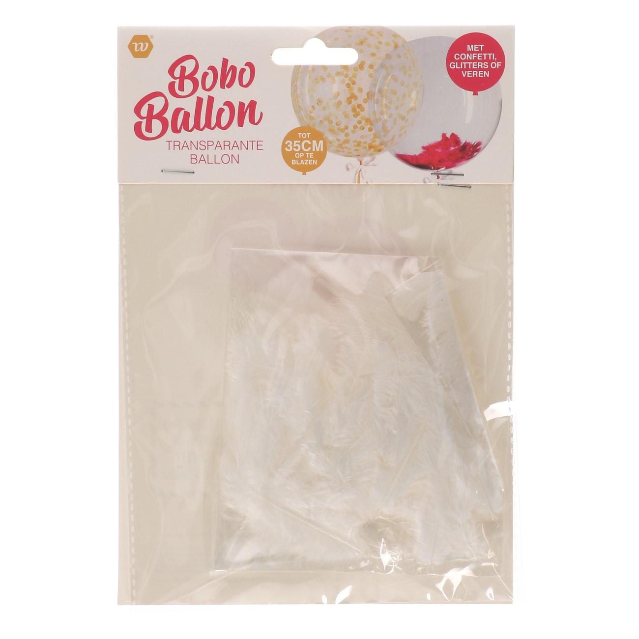 Bobo ballon met veren
