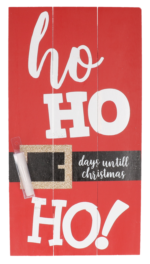 Bord kerstmis Ho Ho Ho inclusief krijtje