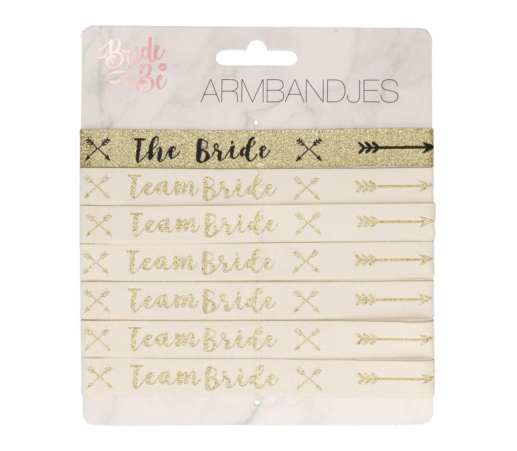 Bride to be/ team bride armbandjes