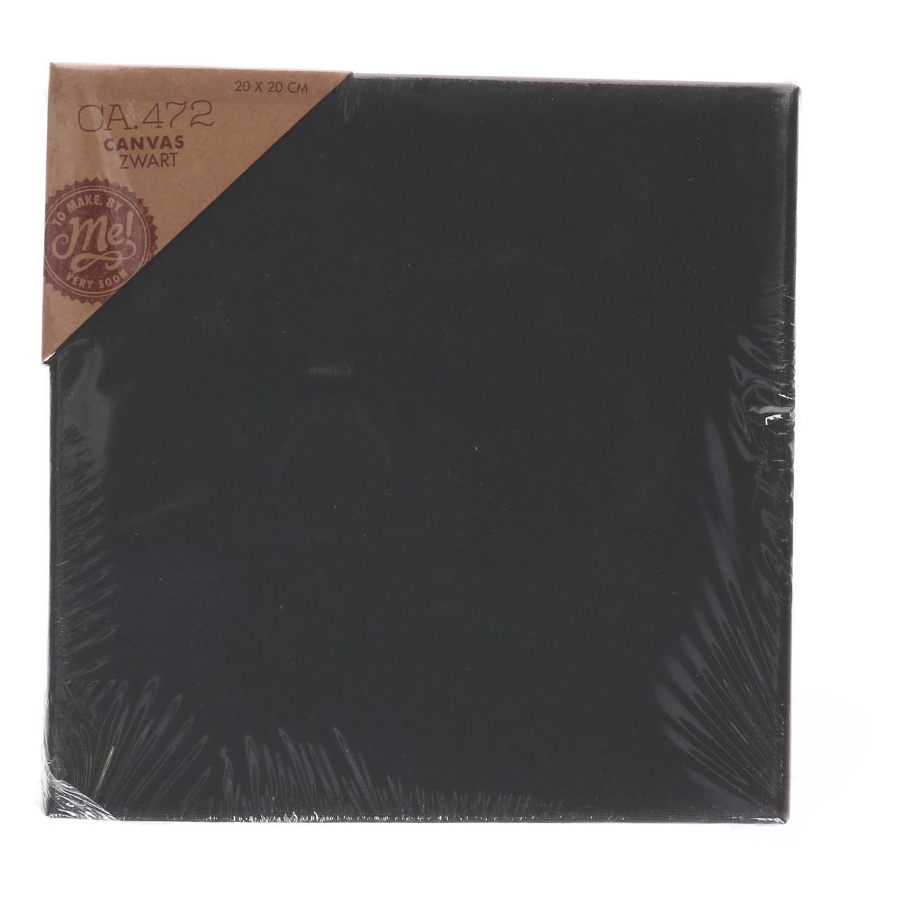 Canvas zwart 20x20 cm (CA.472)