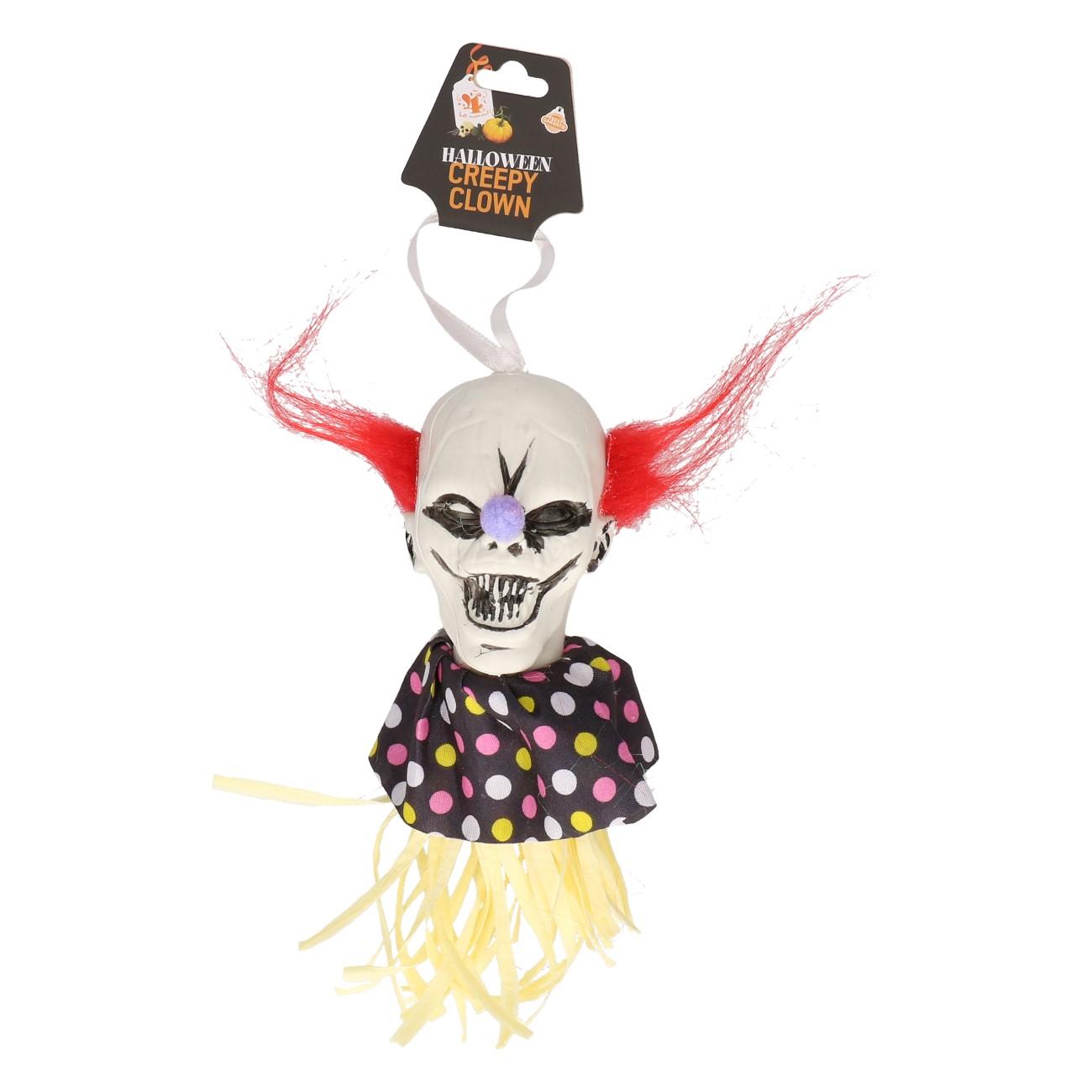 Clownshoofd hangend