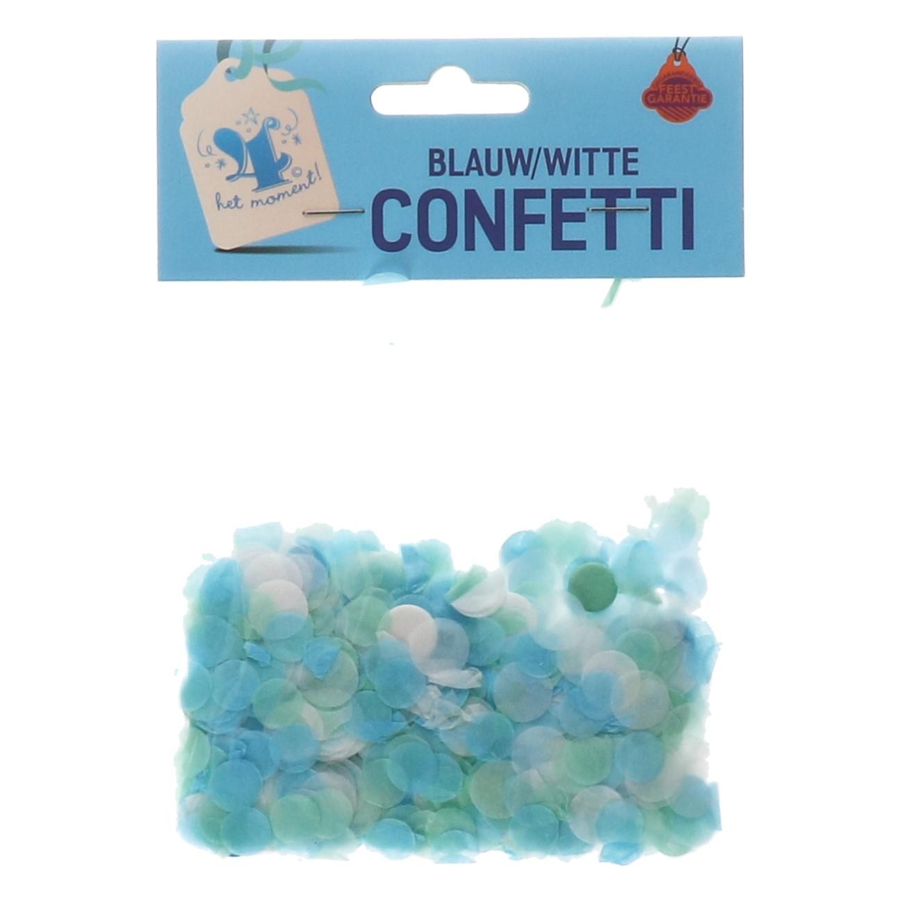 Confetti blauw/wit
