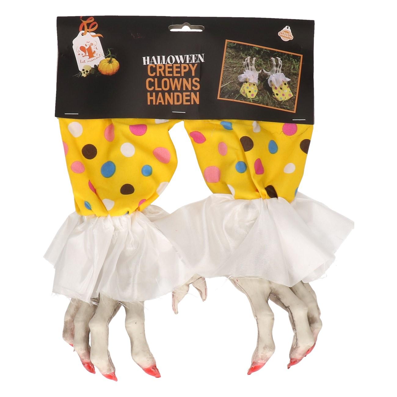 Creepy clownshanden