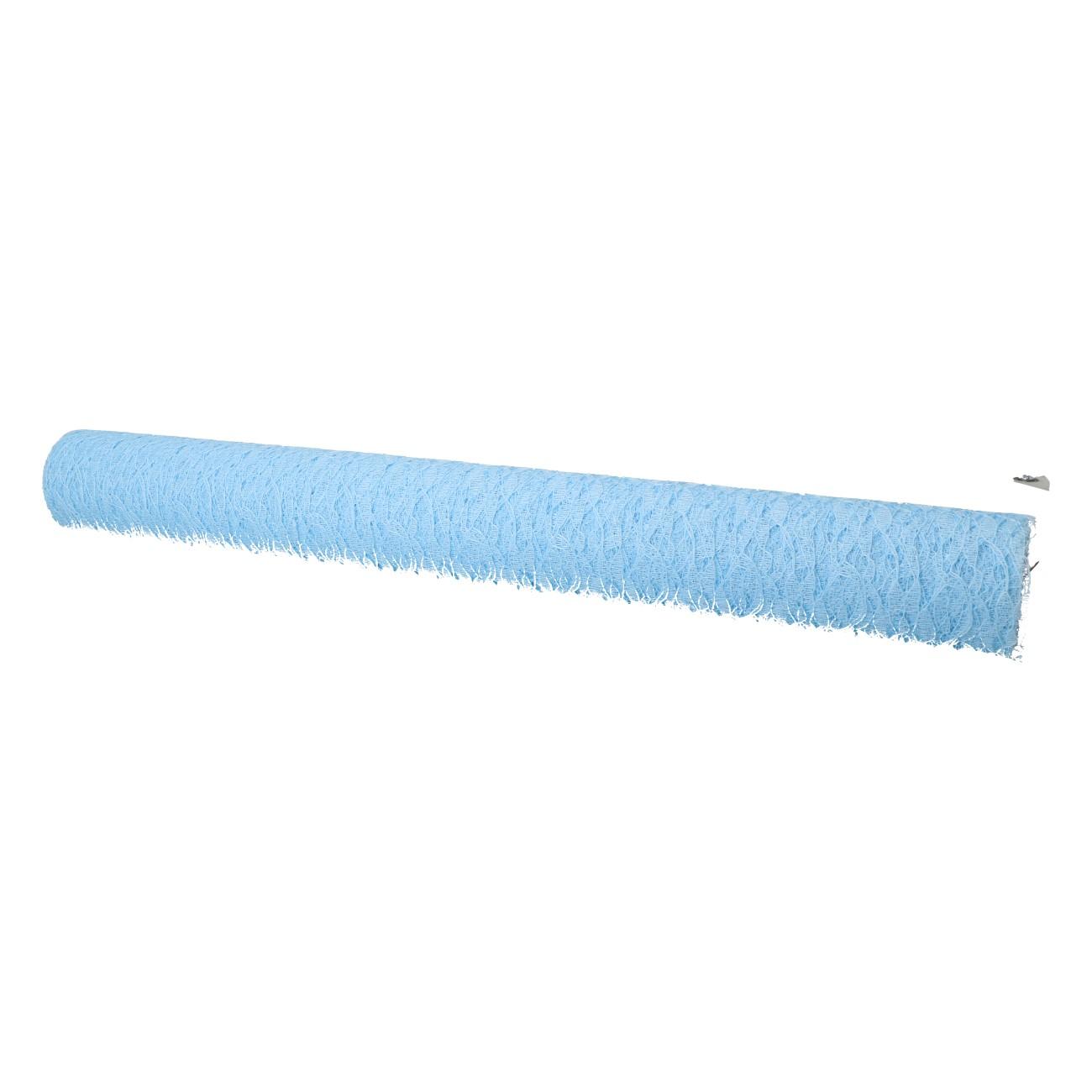 "Decoratiestof blauw 48x420cm ""kant"""