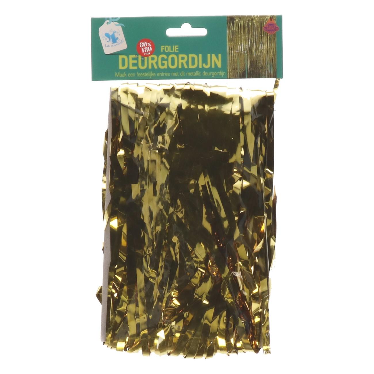 Deurgordijn folie 80*180cm goud