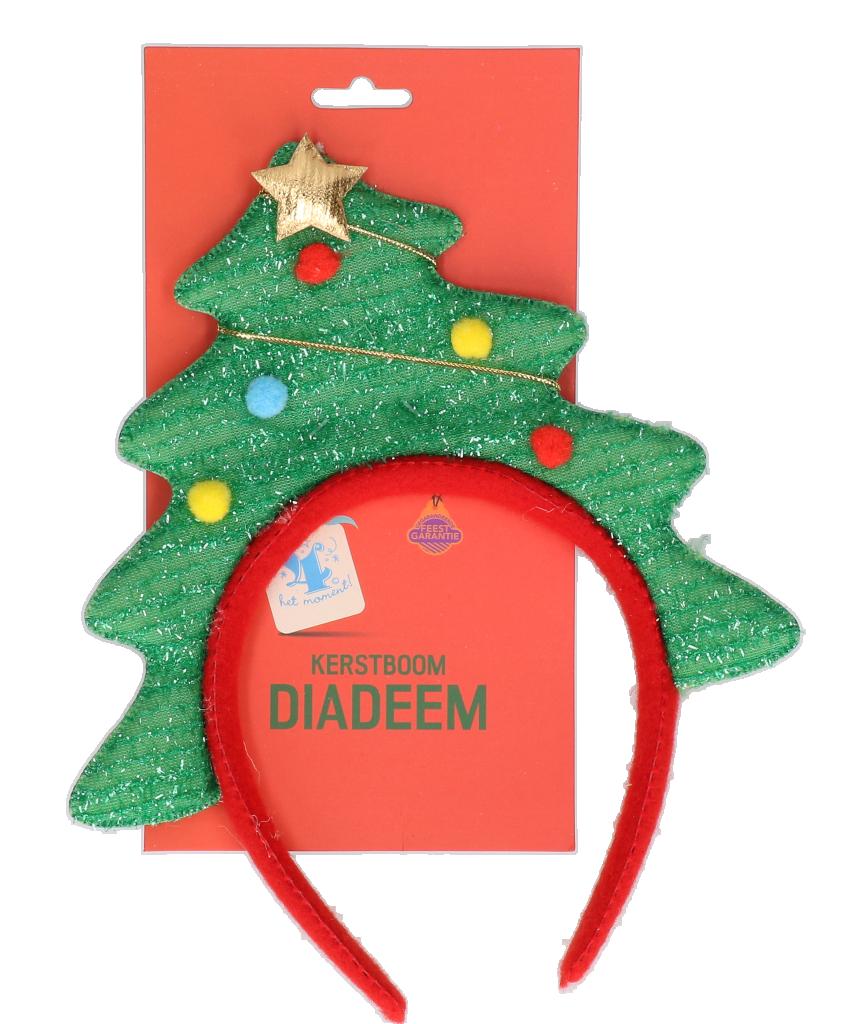 Diadeem Kerstboom met slingers