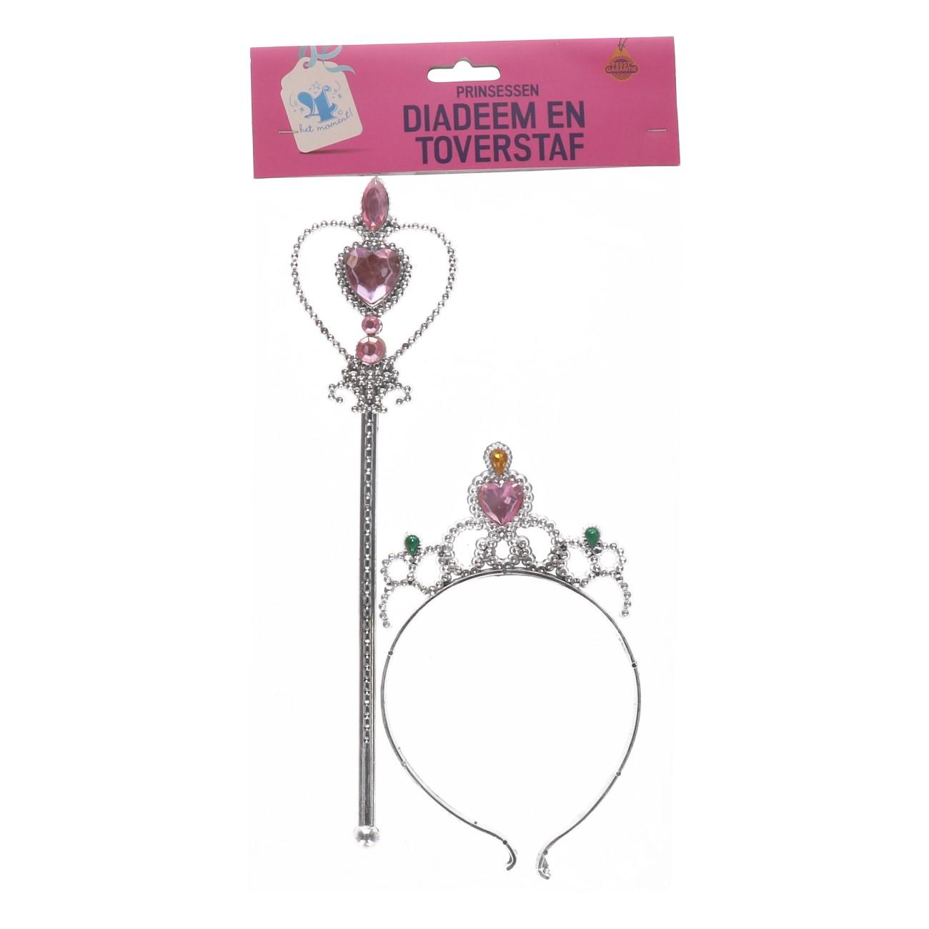 Diadeem en toverstaf voor princessen