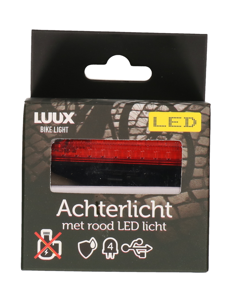 Fiets achterlicht LED rood COMPACT