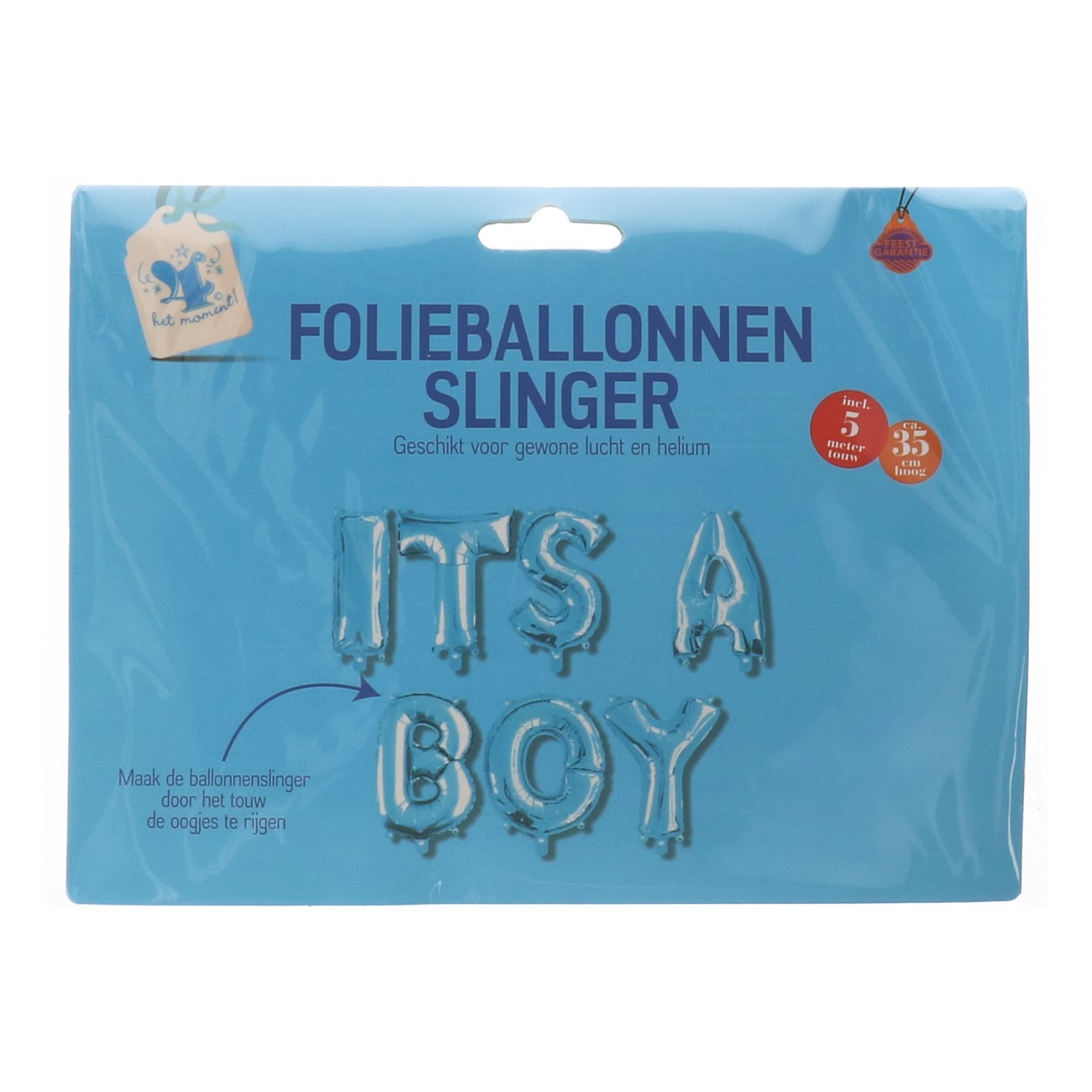 Folieballon It's a boy slinger